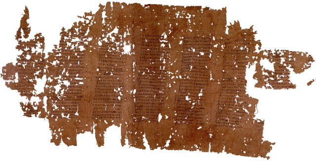 Phaedrus Papyrus fragment from Oxyrhynchus 2nd CE