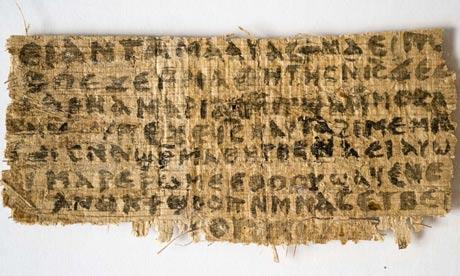 Papyrus of Gospel of Jesus Wife
